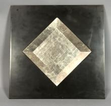 BARK NY BEVELED DIAMOND SHAPED MIRROR IN BLACK FR