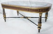 E.J. VICTOR REGENCY STYLE COCKTAIL TABLE. INSET B