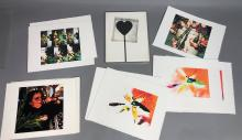 6PC NAOMI SAVAGE ARTWORK PRINTS. HEART LOLLIPOP P