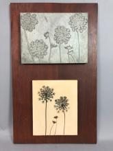 NAOMI SAVAGE TWO PIECES ARTWORK. ORIGINAL METAL E