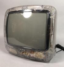 VINTAGE PRISON TV TELEVISION. COMPLETELY CLEAR SE
