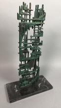 MODERNIST ABSTRACT GERZSO TABLE SCULPTURE. ARCHIT