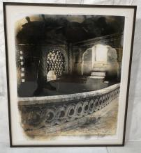 NORINNE BETJEMANN  PAINTED PHOTOGRAPH OF ARCHITEC