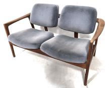 DUX PALE BLUE UPHOLSTERED DOUBLE SEAT BENCH. DUX