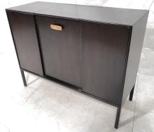 DARK STAINED WOOD DRESSER VANITY. MODERN CLEAN LI