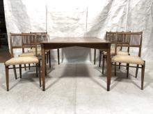7PC MODERN DINING ROOM SET. TABLE & 6 CHAIRS. 6 D