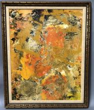 C. GRIFFIN MODERNIST ABSTRACT ACRYLIC COLLAGE