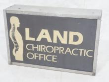 INDUSTRIAL LAND CHIROPRACTIC OFFICE SIGN. ZINC FR