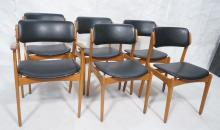 Set 6 Erik Buch Dining Chairs for Odense