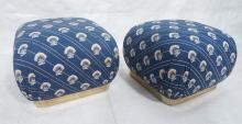 PR 80S MODERN FABRIC POUF STOOLS BENCHES. GOLD TO