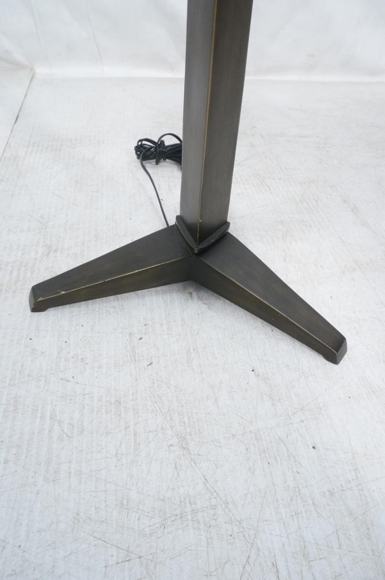 Bronze finish heavy metal floor lamp angular de for Photographer s tripod floor lamp bronze finish