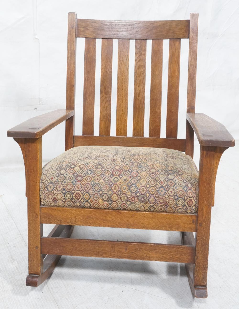 Miraculous Stickley Oak Arts Crafts Mission Rocking Chair Creativecarmelina Interior Chair Design Creativecarmelinacom