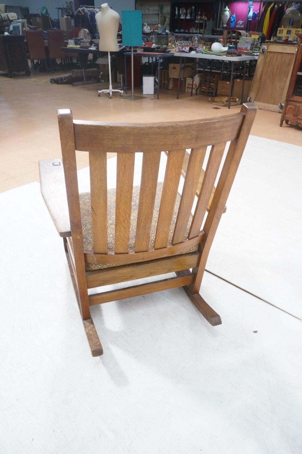 Sold Price Stickley Oak Arts Crafts Mission Rocking Chair November 2 0118 1 00 Pm Est