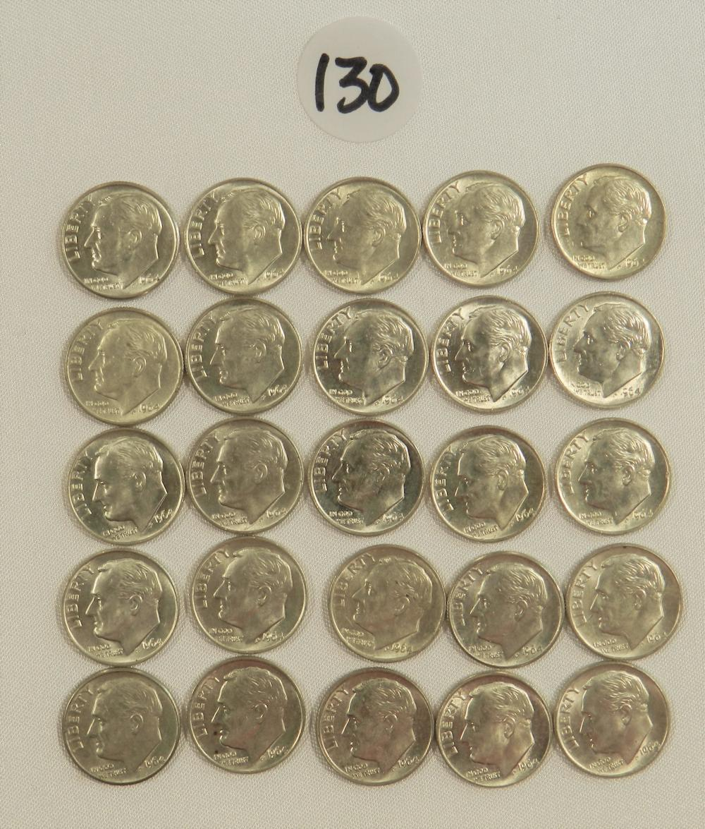 Lot of 60 Silver Dimes