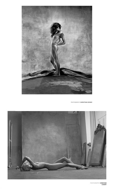 2 Christian Coigny Nude Photo Prints Danseuse, Studio
