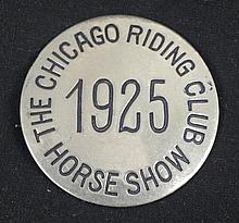 Chicago Riding Club Horse Show Vintage Pin 1925