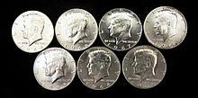 Set of (7) Choice Bu Kennedy Silver Halves 1964-'69 P+D