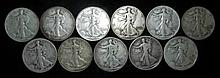 11 Walking Liberty Silver Halves 9 Different Dates
