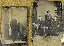 2 Antique Tintype Photographs Young Men, Boy Photos