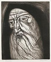 Jeremiah by Irving Amen Original Etching Unframed S/N