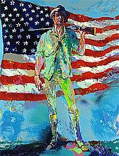 Minuteman by LeRoy Neiman S/N 28x31 Serigraph