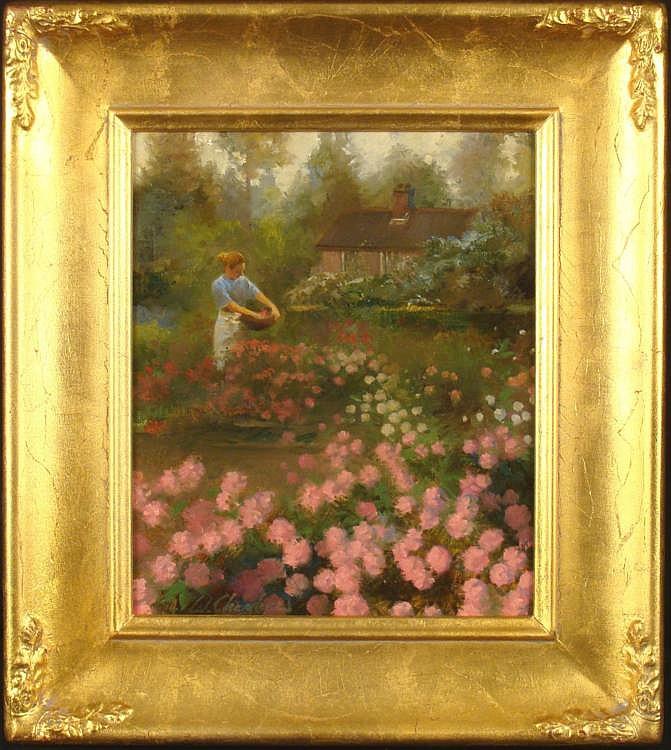 William Chambers Original Painting Killarney Garden