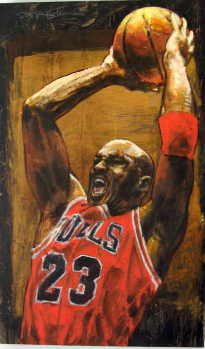 Stephen Holland Signed Michael Jordan Art Print