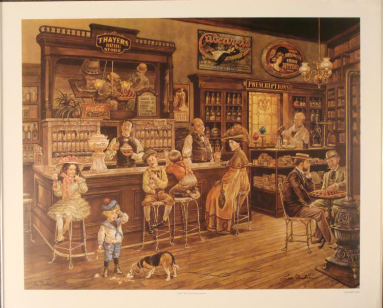 Lee Dubin : Turn of the Century Drugstore Art Print