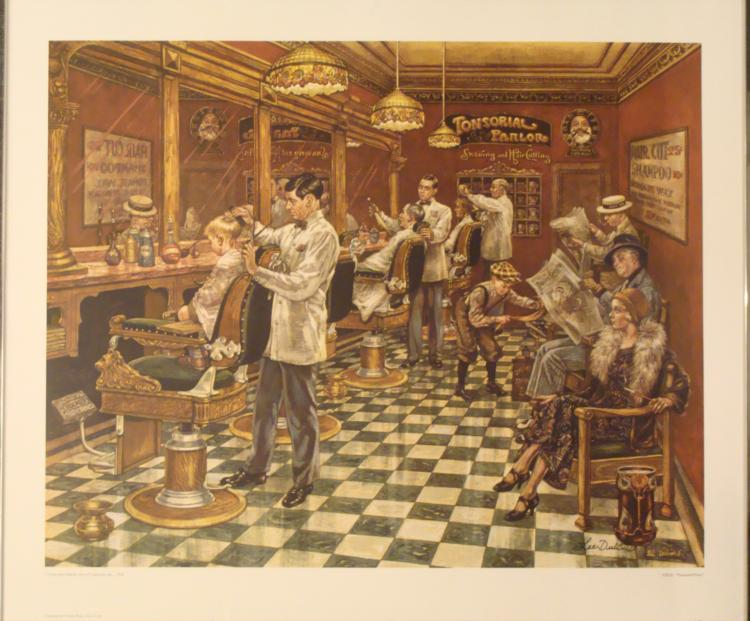 Lee Dubin : Tonsorial Parlor Art Print
