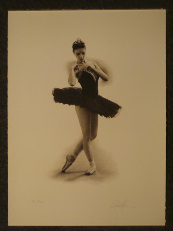 Douglas Hoffman Signed & Dedicated Art Print Ballerina