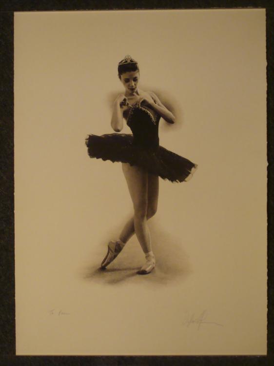 Douglas Hoffman Signed & Dedicated Print Ballet Dancer