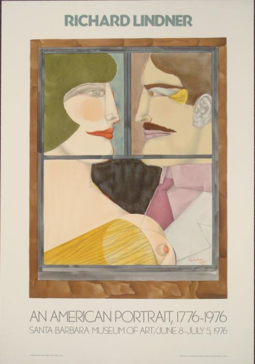 Richard Lindner An American Portrait Exhibition Print