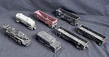 7 Pc Lionel Vintage Train Cars, Engine Model Railroad