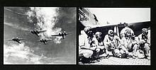 2 Photos US Tuskegee 332nd Airmen, Martin B-12 Bomber