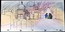 Cel Interrogation Room Original Background Animation