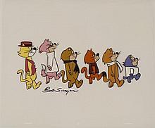Top Cat & Friends Signed Orig Model Cel Animation Art
