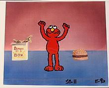 Background Elmo Cel Burger In A Box Original Animation