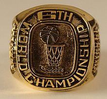 Chicago Bulls 6th World Championship Replica Ring