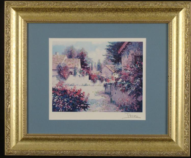 Alex Perez Country Art Print Framed Village View III