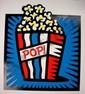 AMERICAN POP BLUE Burton Morris HUGE Pop Art Print S/N, Burton Morris, Click for value