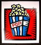 HUGE Pop Art Burton Morris AMERICAN POP RED S/N Print, Burton Morris, Click for value