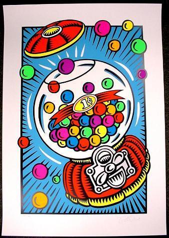 BIG Burton Morris PENNY A POP Signed Numbered Art Print