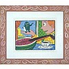 Framed Rodney Greenblat Watermelon Man Serigraph Print, Rodney Alan Greenblat, Click for value