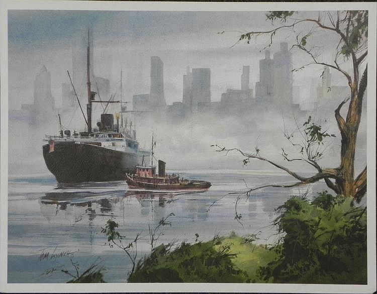 Tom Lynch Art Print Competitive Boats