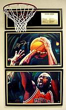 2 Michael Jordan Signed LE Fine Art Prints LAST SHOT