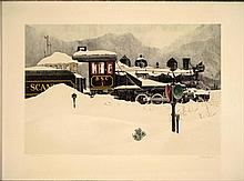 Mel Hunter Art Locomotive Signed Print 1972