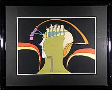 Peter Max Framed Rhythmaitc Man S/N Serigraph Print