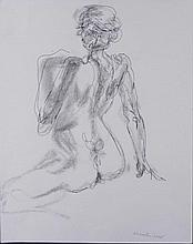 Betty Snyder Rees Original 2 sided Drawing Nude Woman