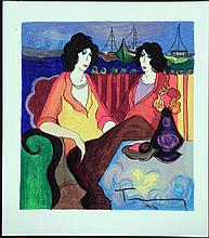 Itzchak Tarkay Signed Ltd Ed Art Print At The Port