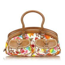 Dior - Floral Canvas Handbag